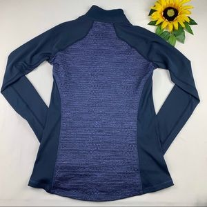 CALIA by Carrie Underwood Sweaters - Calia 1/4 Zip Caviar Popover Pullover Dark Ocean